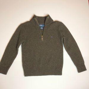 Boys Polo Half Zip Sweater